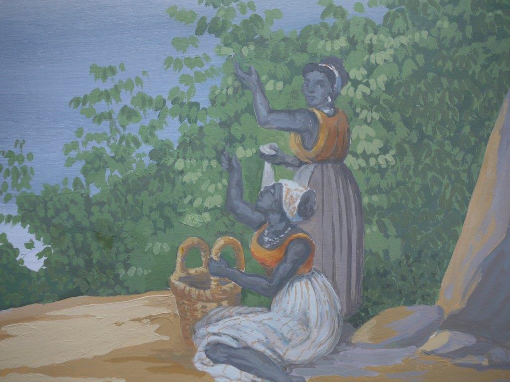 Detail du trompe l oeil peintres d corateurs for Peintre decorateur