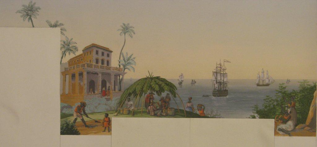 Maquette du trompe l oeil peintres d corateurs for Peintre decorateur