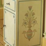 meuble peint, pochoir