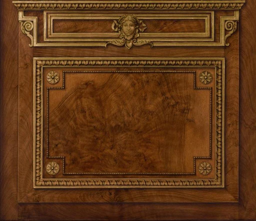 Faux bois joelle godefroid meilleur ouvrier de france peintres d corateurs for Peintre decorateur