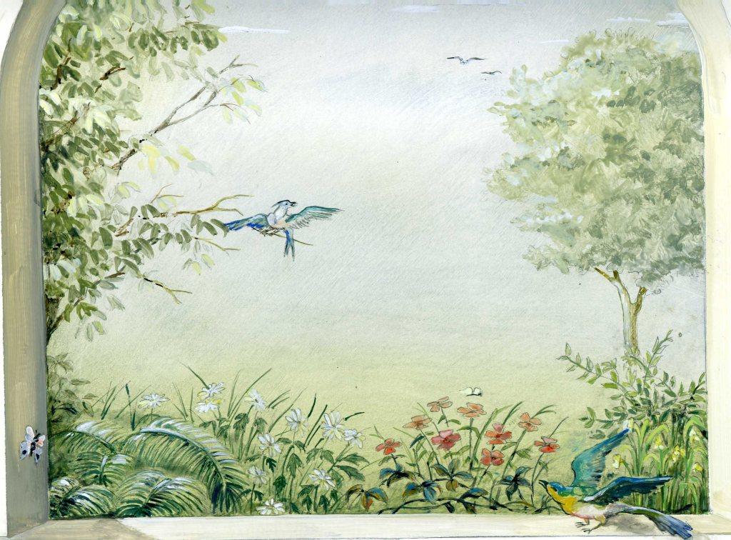 Decor peint en trompe l 39 oeil peintres - Decoration trompe l oeil ...