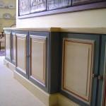 meuble peint, patines et filetsts