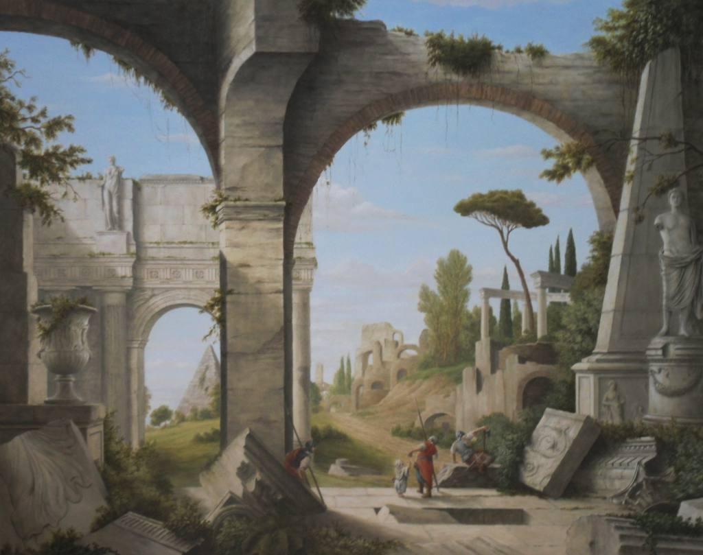 Etat final du trompe l oeil du peintre d corateur christophe rage peintres d corateurs for Peintre decorateur