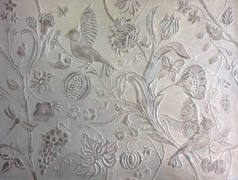 Patine sur faux cuir peintres d corateurspeintres - Papier peint faux marbre ...