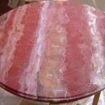 Table en faux marbre