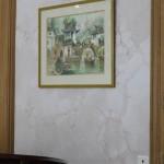 decor peint faux marbre
