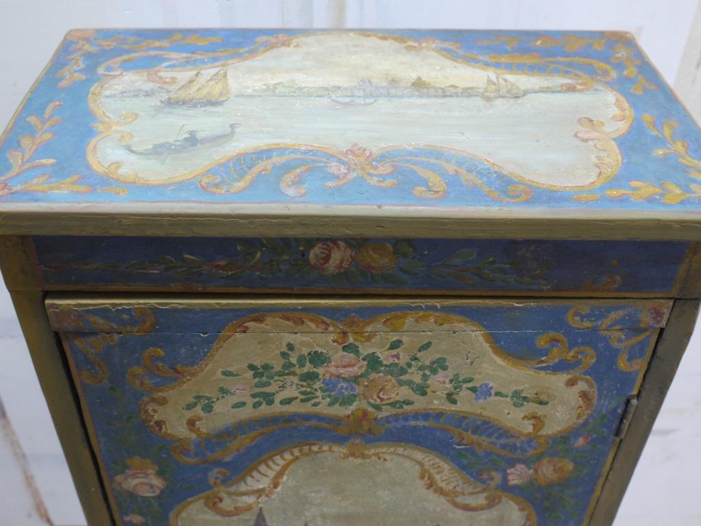 Restauration d 39 un meuble peint baroque peintres for Meuble peint