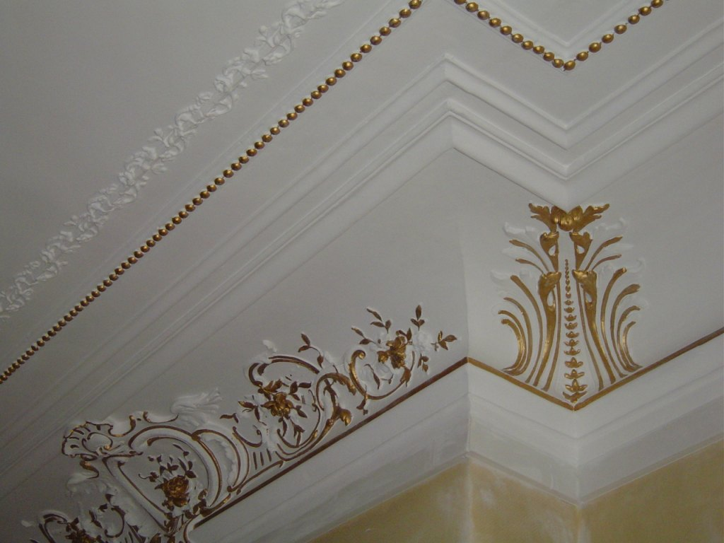 Dorure ornements plafond peintres d corateurspeintres for Decoration plafond platre france