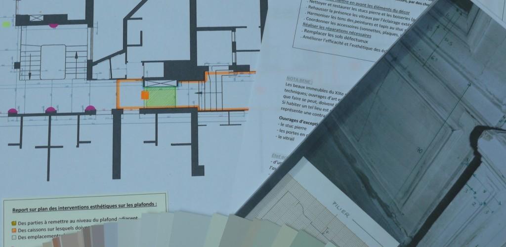 Décors intérieurs, conception et réalisation.
