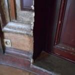 Stuc marbre avant restauration