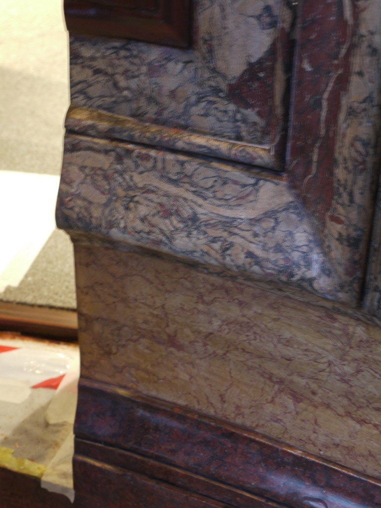 Restauration de stucs marbres 1 peintres d corateurs for Peintre decorateur
