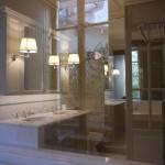 décor néoclassique dans une salle de bains