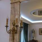 Pilastre en faux marbre