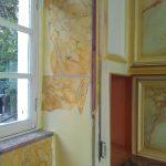 Restauration de décor peint faux carrelages
