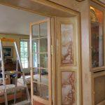 Restauration de décor peint faux marbre